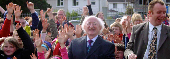 2004: Michael D. Higgins TD at the official opening of Galway ETNS